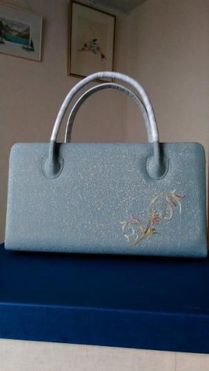 日本刺繍・利休バッグ